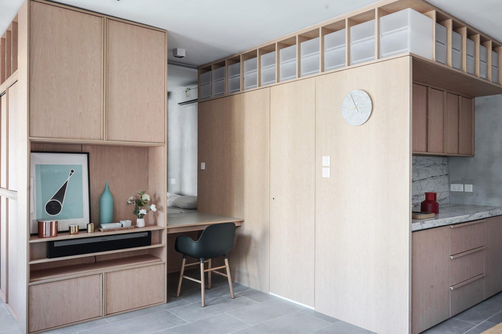 Plano y Diseño interior para Departamentos de 32 metros cuadrados