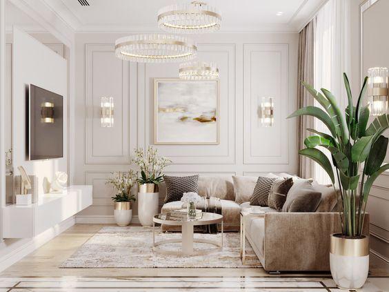 Estilo clásico para decorar salas