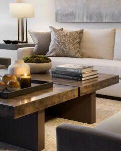 Orden y limpieza en salas elegantes