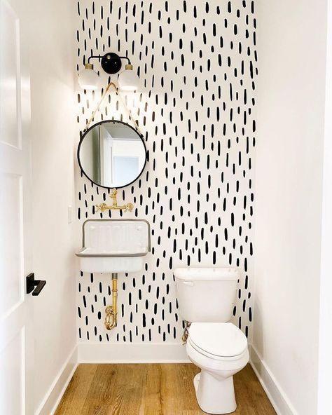 Baños decorados con papel tapiz