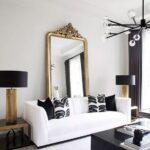 Decora tu sala en color blanco con negro