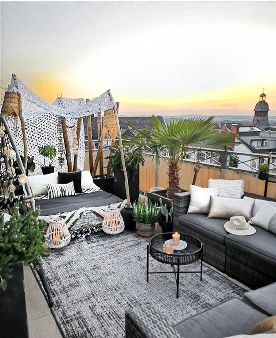 Decoración de terrazas grandes