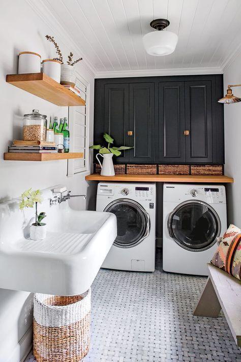 Muebles para un cuarto de lavado