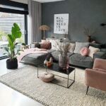 Salas de estar pequeñas color gris