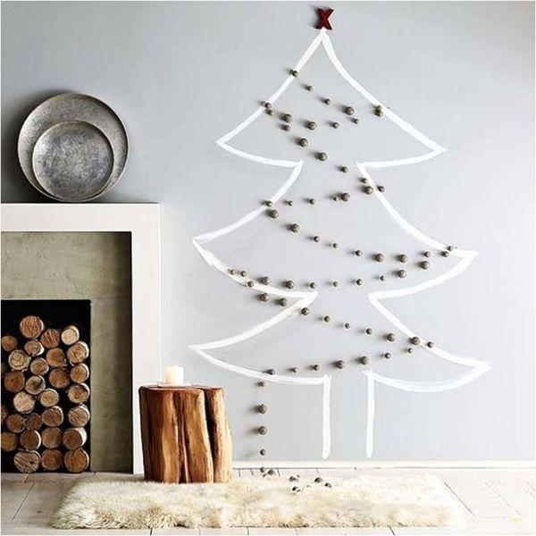 La decoración navideña en blanco nunca falla