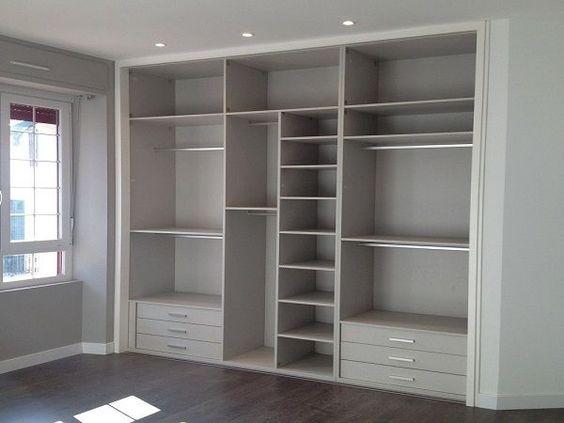 Diseños de closet de tablaroca modernos y elegantes