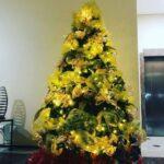 Arboles de navidad color amarillo