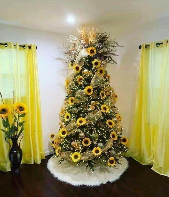 Decoración para Navidad color amarillo