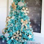Decoración navideña color turquesa
