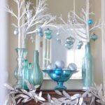 Centros de mesa navideños color turquesa