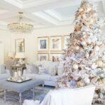 Decoración navideña blanco con dorado
