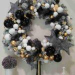 Coronas navideñas en color negro