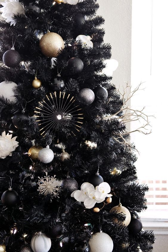 Ideas de decoración navideña en color negro