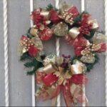 Coronas navideñas rojo, verde y dorado