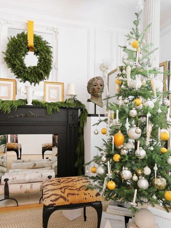 Accesorios de decoración para navidad color amarillo