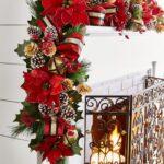 Entradas de casa navideñas rojo con dorado