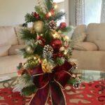 Adornos navideños rojo con dorado