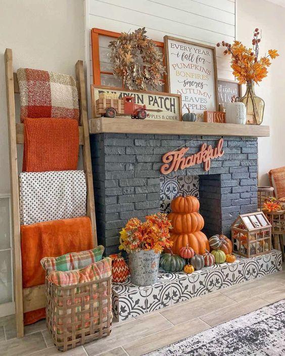 Gama de colores para la decoración de otoño