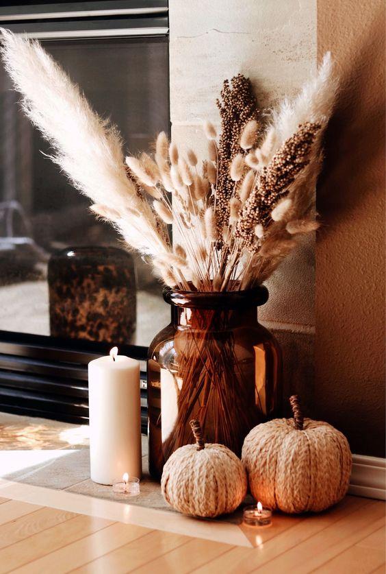 Velas decorativas para otoño