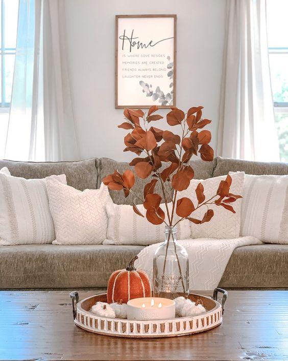Vegetación seca para la decoración de otoño