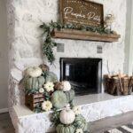 Chimeneas decoradas para otoño