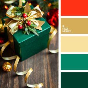 Paletas de color en decoración navideña
