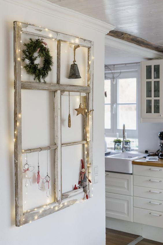 Detalles rústicos en la decoración de navidad