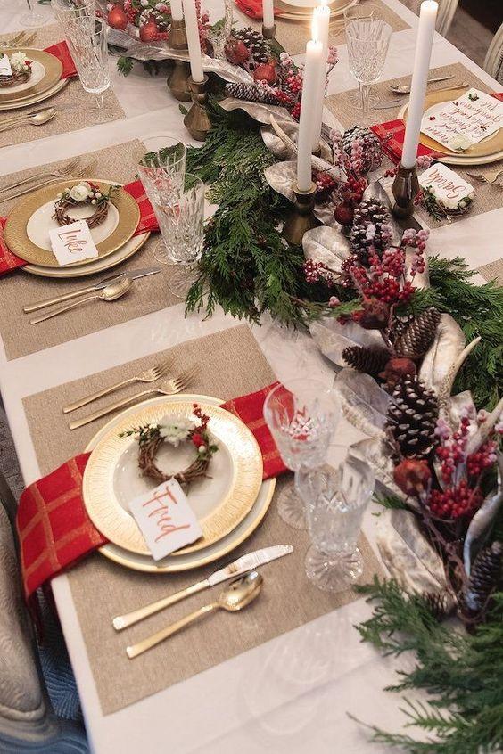 Increíbles diseños de centros de mesa navideños