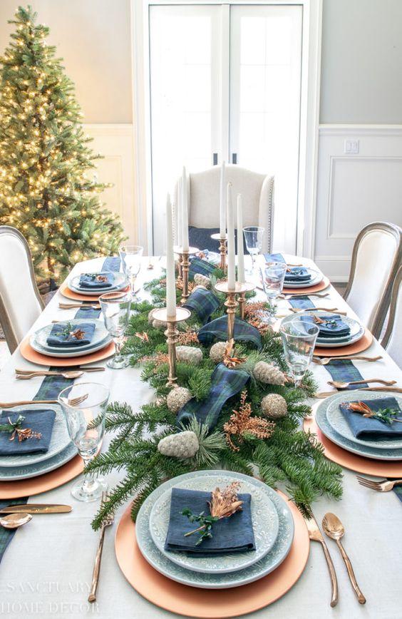 Servicios de mesa para navidad