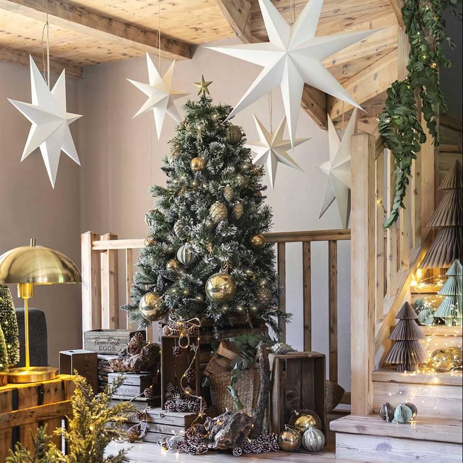Diferentes diseños de esferas o bolas de Navidad