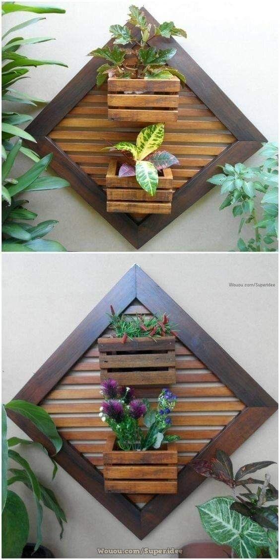 Repisas flotantes para plantas