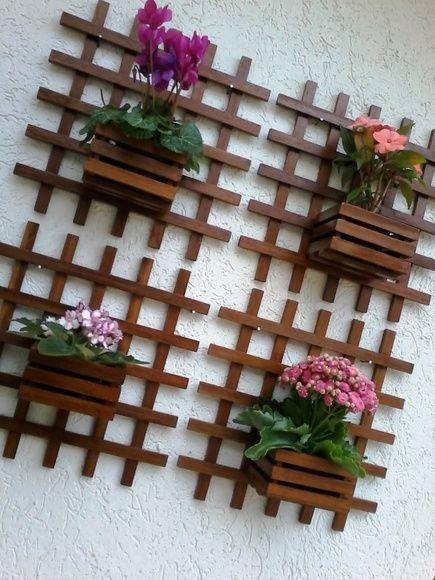 Diseños de repisas de madera para el jardín